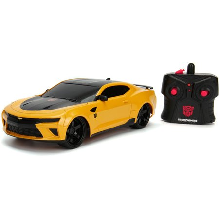 Jada Toys Hollywood Rides RC Transformers The Last Knight BumbleBee 2016 Chevy Camaro Remote Control Vehicle 1:16 Scale Glossy Yellow
