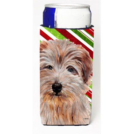 Norfolk Terrier Candy Cane Christmas Michelob Ultra bottle sleeves Slim Cans  12 Oz. - image 1 of 1