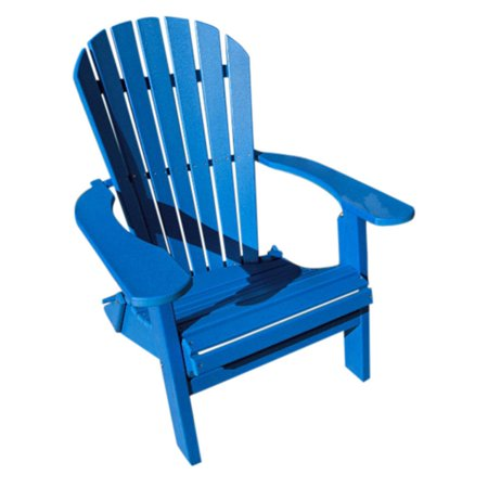 Brown Deluxe Board - Phat Tommy Recycled Plastic Deluxe Folding Adirondack Chair