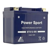 ExpertPower ETX12-BS 12v12ah YTX12-BS (12v 12Ah) Maintenance Free Battery Powersport Motorcycle ATV Replace 2003 Honda TRX250 Recon