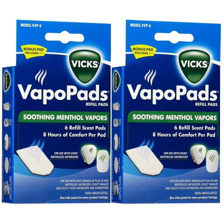 Vapopads Refill (VapoPads Soothing Vapors Replacement Pad - 2 pk, Includes 5 refill pads By Vicks )