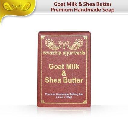 Premium Handmade Soap- Goat Milk & Shea Butter, 4.4