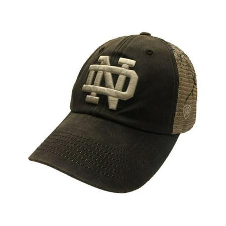 Notre Dame Fighting Irish TOW Brown Realtree Camo Mesh Liberty Adj. Hat Cap e40918f9181
