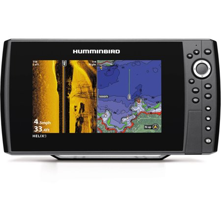 Humminbird helix 9 si gps fishfinder combo with side for Side imaging fish finder