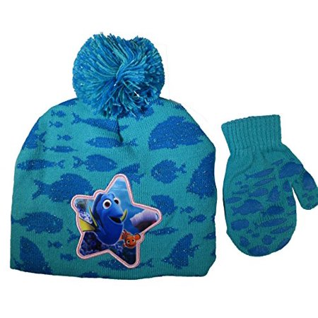 Disney Finding Dory Nemo Girls Hat and Mitten Set - Toddler - Nemo Hat