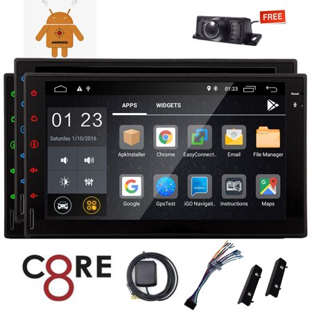 Eincar Octa-core Car Stereo with 7 inch Capacitive Touchscreen Head Unit Display Android 8.1 Car DVD Player GPS Navigation Autoradio Bluetooth Car Stereo with Wifi Dongle USB/SD/OBD2 + Backup