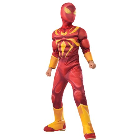 Muscle Man Outfit (Morris Costume Boys Iron Spiderman Padded Muscle Complete Outfit 4-6, Style)