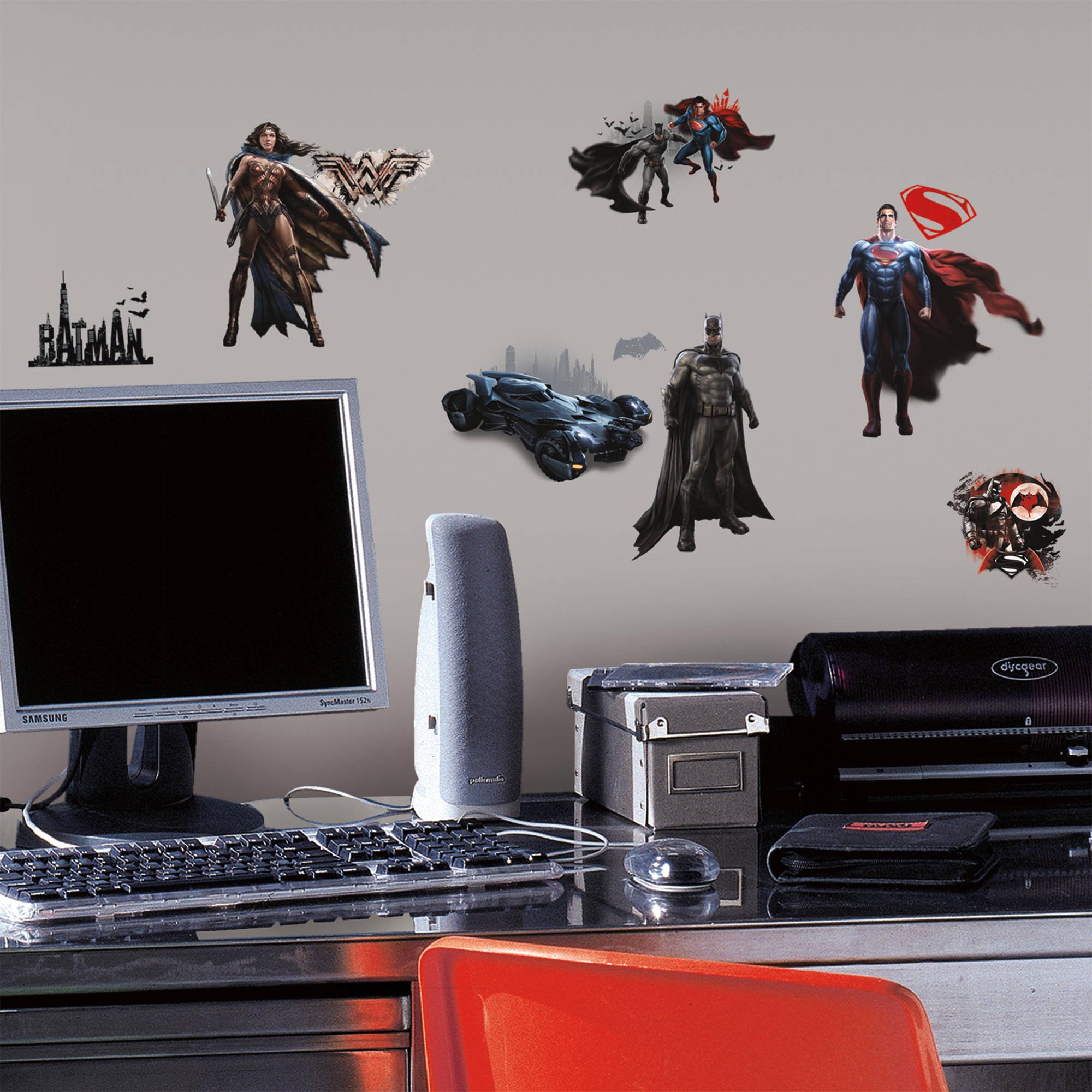 RoomMates Batman Vs Superman Peel And Stick Wall Decals   Walmart.com