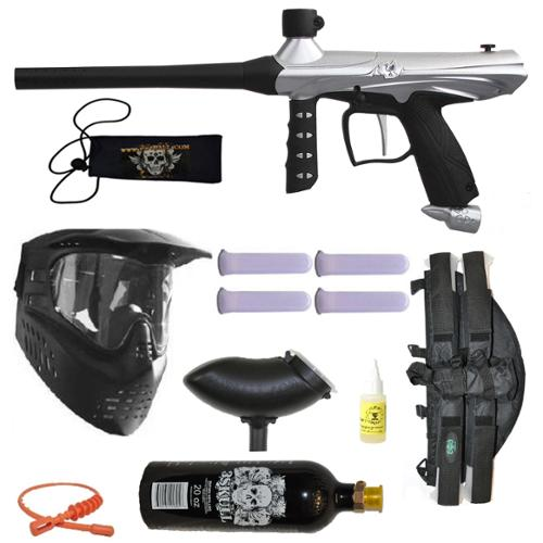Tippmann Gryphon Paintball Marker Gun 3Skull 4+1 BC Mega Set by