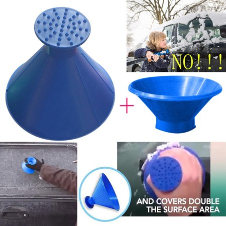 - Scrape A Round Magic Cone-Shaped Windshield Ice Scraper Snow Shovel Tool+Funnel