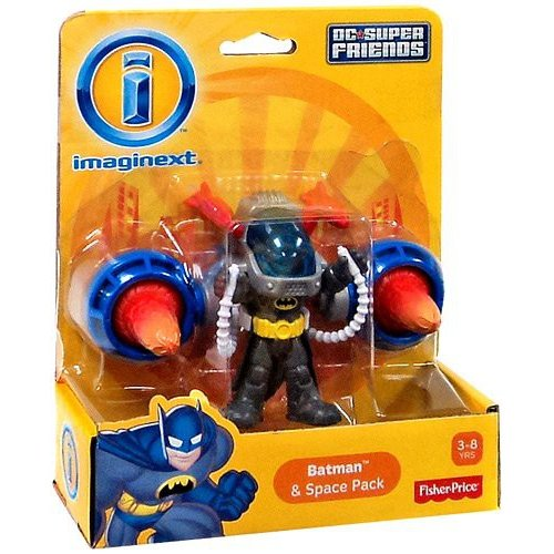 Fisher-Price Imaginext DC Superfriends Batman Action Figure with Spacepack