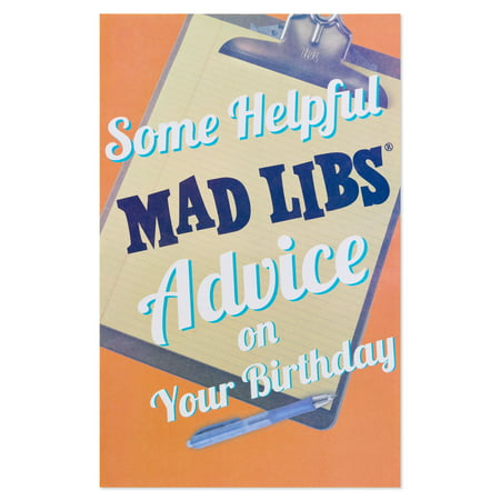 American Greetings Funny Mad Libs Birthday Card With Foil Walmart