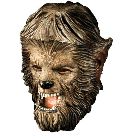Wolfman Deluxe Adult Halloween Latex Mask Accessory - Wolfman Halloween Masks