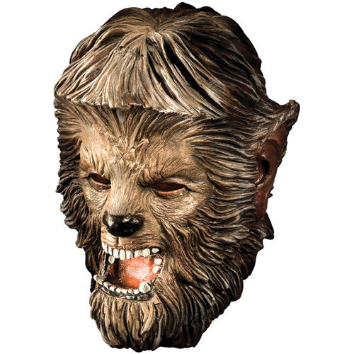 Wolfman Deluxe Adult Halloween Latex Mask Accessory