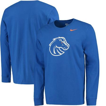 Nike Boise State Broncos Cotton Long Sleeve Logo T-Shirt (Kids Nike Shoes Jordan 1)