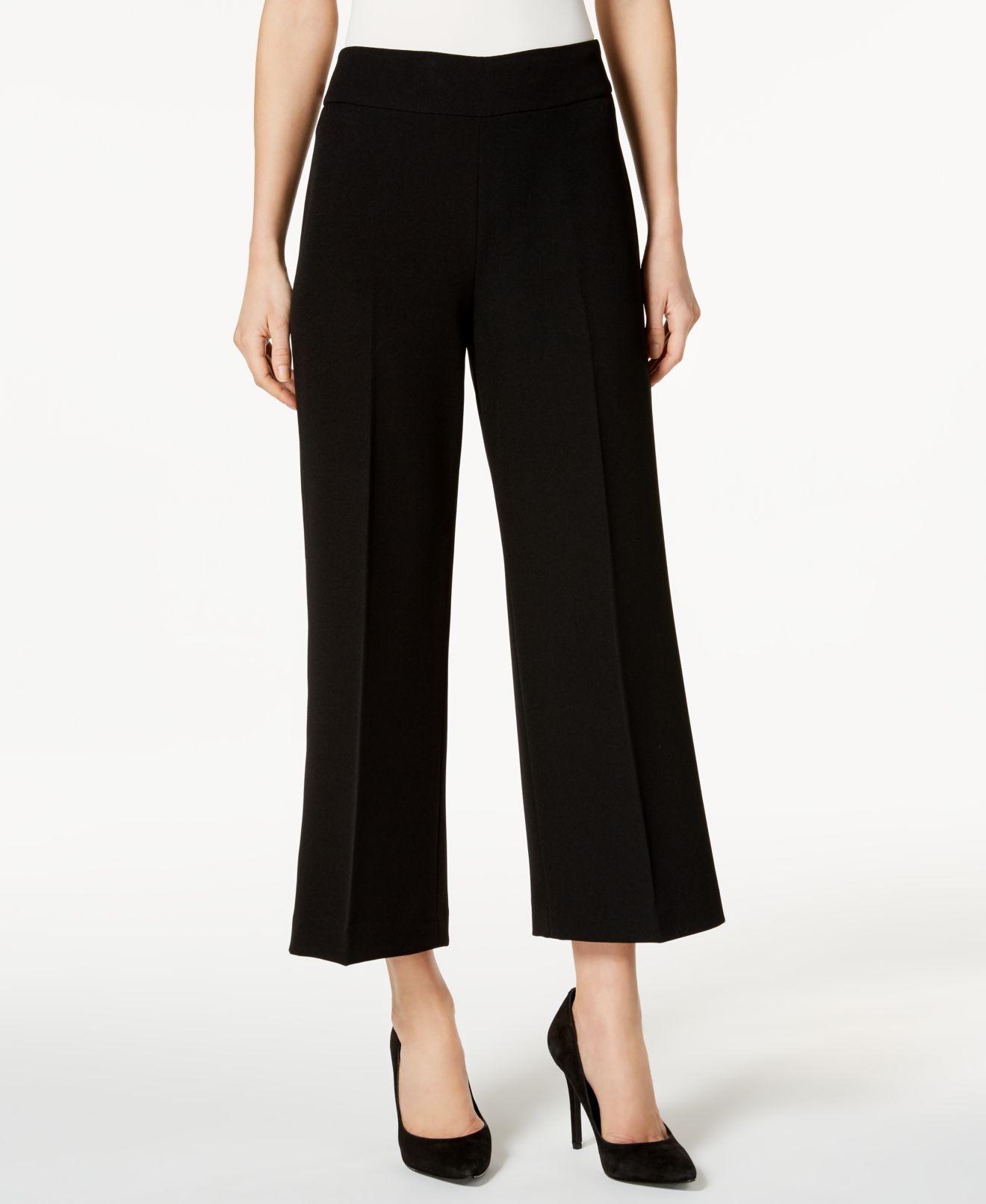 Kasper New Black Women S Size 14 Cropped Wide Leg Dress