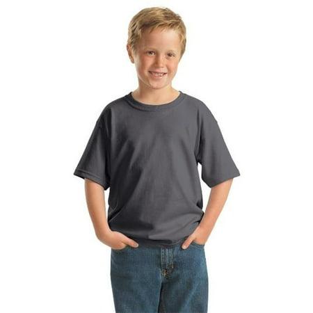 5000B Youth Heavy 100 Percent Cotton T-Shirt, Charcoal - Medium