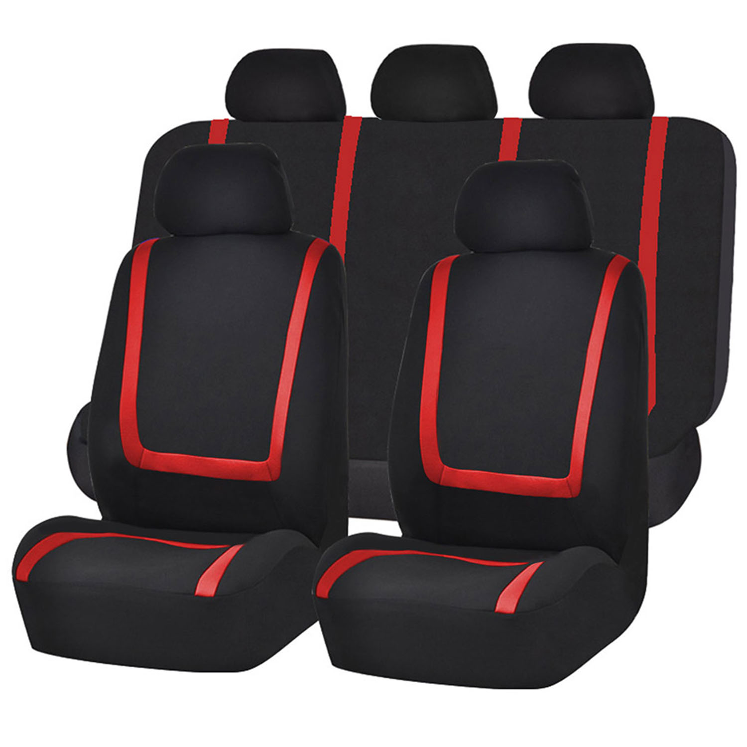9Pcs Auto Seat Cover Set Front Seat Back Bench Rear Backrest Covers Universal Fits Cars SUV Trucks