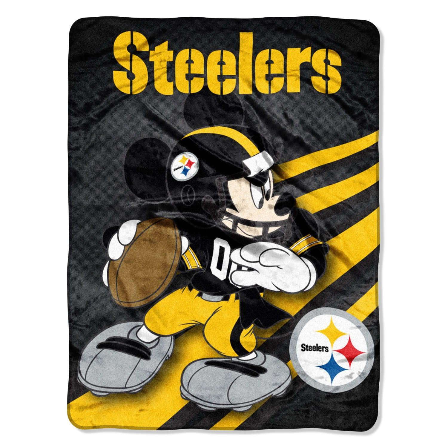 Pittsburgh Steelers NFL 46x60 Mickey Mouse Micro Raschel Plush Throw