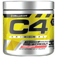 Cellucor C4 Original Pre Workout Powder, Sugar Free Preworkout Energy Supplement for Men & Women, 150mg Caffeine + Beta Alanine + Creatine, Cherry Limeade, 30 Servings