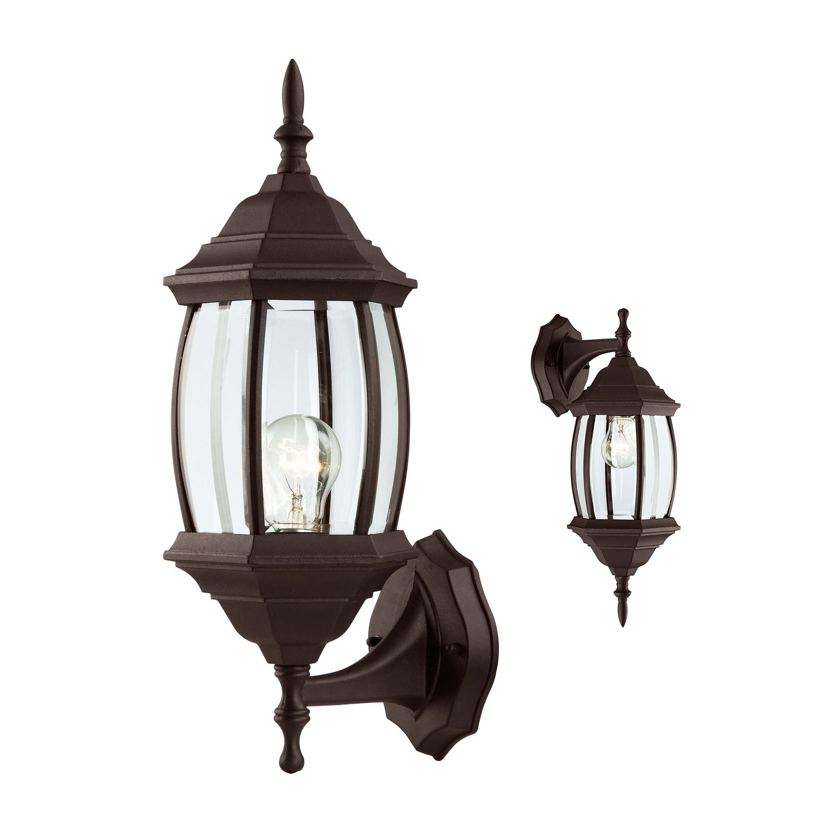 Outdoor Exterior Wall Sconce Lantern Light Fixture, Oil Rubbed Bronze by