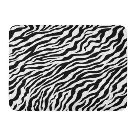 White Zebra Tiger (GODPOK Skin Orange Zebra Tiger Pattern Black and White Camouflage Leopard Rug Doormat Bath Mat 23.6x15.7 inch )