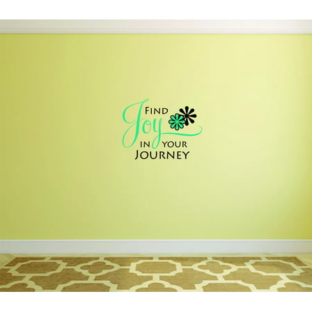 Wall Design Pieces Find Joy In Our Journey Quote 20x20 Inches