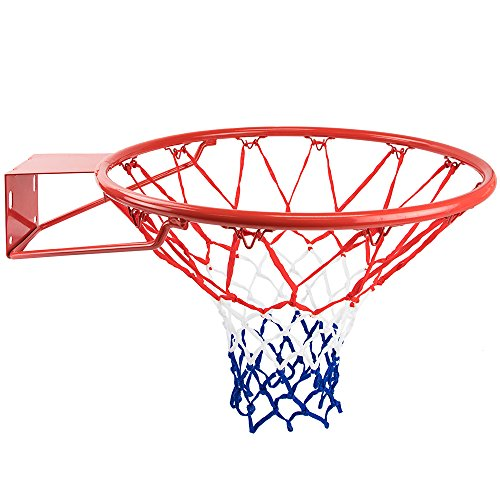 Crown Sporting Goods Red, White, and Blue Nylon Basketball Net