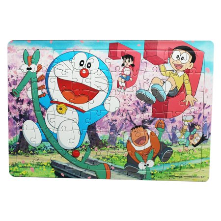 Doraemon and Friends Riding Japanese Letters Framed Puzzle (60pc)