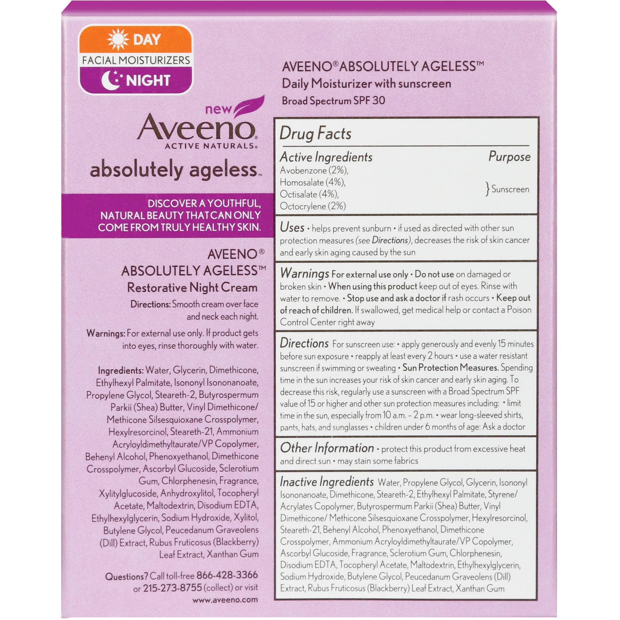 Aveeno Absolutely Ageless Facial Care Starter Kit, 2 pc 3 Pack Palmers Cocoa Butter EVENTONE FADE CREAM Dark Spot Corrector 2.7oz Each