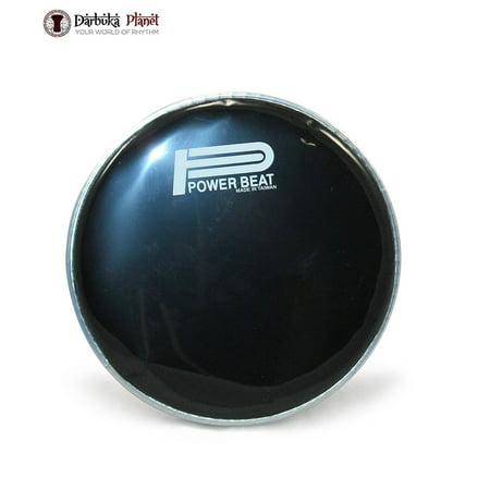 Black Power Beat 8.75'' Darbuka Skin Doumbek Head Original PowerBeat Drum Skin (Black Doumbek)
