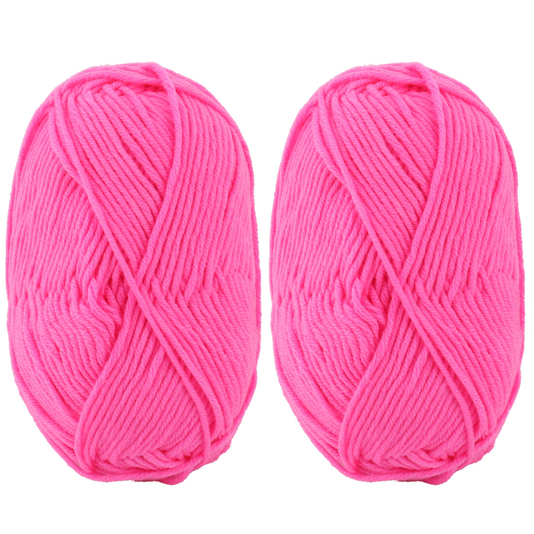 Festival Handmade Scarf Sweater Hat Knitting Yarn String Dark Pink 100g 2pcs