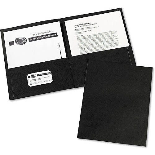 Avery Two-Pocket Embossed Paper Portfolio, 30-Sheet Capacity, 25/Box