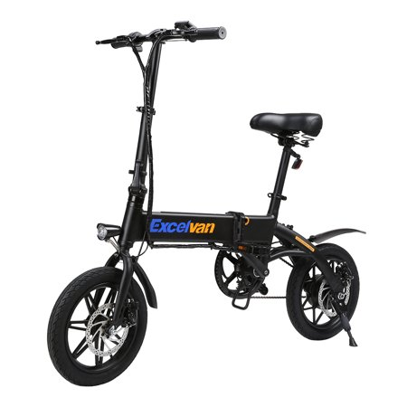 Excelvan Classic E-Bike - Folding Electric Bicycle/Collapsible Moped Bicycle Aluminum Frame with LED Display/Headlights, Three Riding Modes. 250W