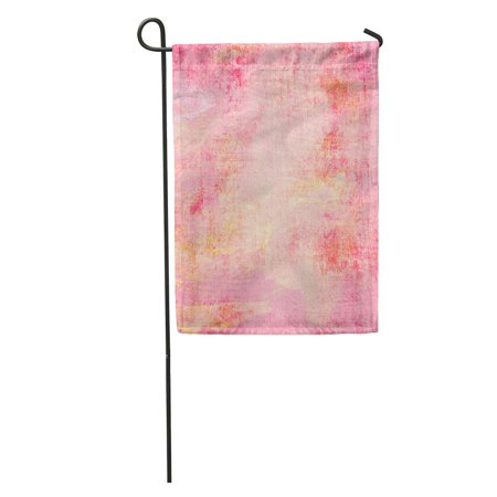 KDAGR Watercolor Canvas Paint Wall Purple and Pink Gray Hot Abstract Garden Flag Decorative Flag House Banner 12x18 inch