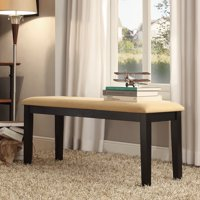 Weston Home Lexington Upholstered Dining Bench, Black and Peat