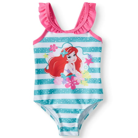 The Little Mermaid Ruffle Strap One-Piece Swimsuit (Baby Girls)