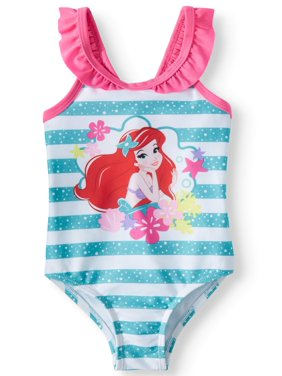 1671b90e6b Product Image Baby Girls' The Little Mermaid Ruffle Strap One Piece Swimsuit