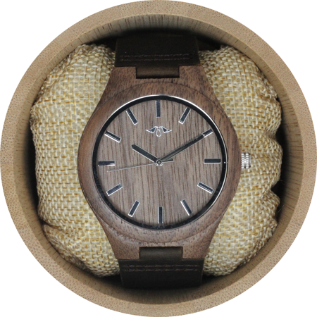 Angie Wood Creations Walnut Men's Watch With Walnut Dial and Leather Strap - image 7 de 7