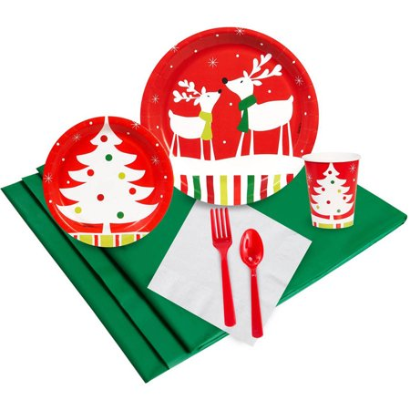 Reindeer Christmas Party 24-Guest Party Pack](Christmas Party Plates And Napkins)
