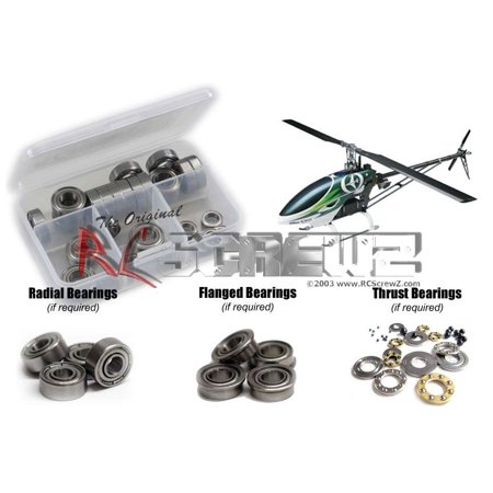 RC Screwz Metal Shielded Bearing Kit for Thunder Tiger G4 e720 Heli (Tiger Bearings)