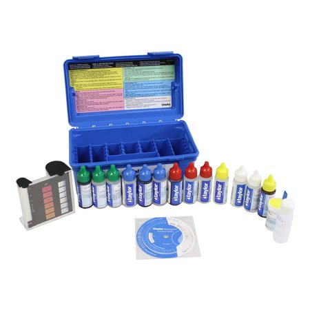 Taylor K2006 2000 Complete Swimming Pool Chlorine pH Alkaline Water Test Kit (Deluxe Test Lead Kit)