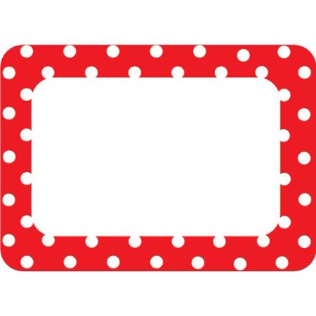Red Polka Dots 2 Name Tags