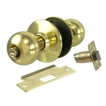 (S. Parker Polished Brass Ball Knob Privacy Lockset (2-3/4