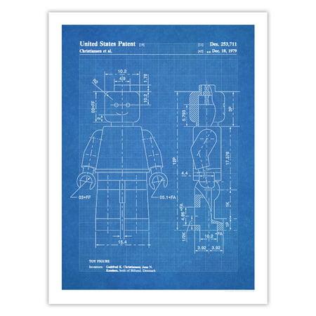 - Lego Minifigure Toy Poster 1961 Patent Art Handmade Giclée Gallery Print Blueprint (18