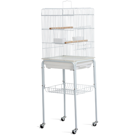 Yaheetech 46.5'' Rolling Metal Bird Cage w/ Perch for Parrot & Finch