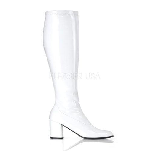 Pleaser Gogo-300WC, 3'' Block Heel Wide Stretch Boot