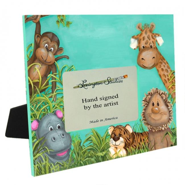 Lexington Studios 37078 Zoo Animals 5 x 7 Large Off Center Picture Frame
