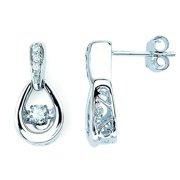 Boston Bay Diamonds  14k White Gold 1/4ct TDW White Diamond Earrings