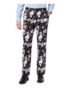 922ed87e1d Product Image INC NEW Black Mens Size 38X32 Slim Fit Floral Dress Flat  Front Pants. INC International Concepts